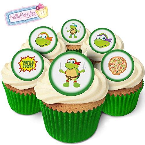 24 Wunderschöne essbare Kuchendekorationen: Cartoon Schildkröten / 24 Edible Decorations: Cartoon Turtles (Dekorationen Turtle Ninja Cupcake)