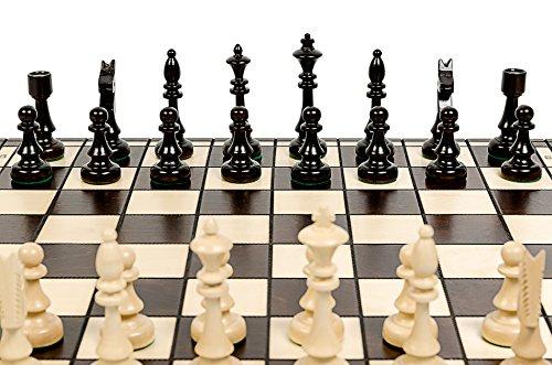 Master Club (Master of Chess CHESS CLUB 47cm/18in Turnier Holz Schach-Spiel, Handcrafted klassische Spiel)