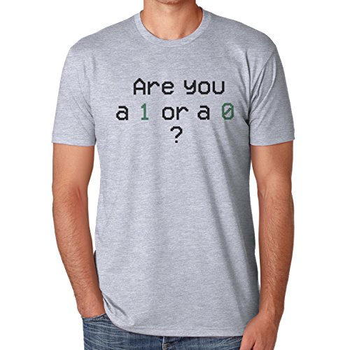 Are You A 1 Or A 0 Mr. Robot Herren T-Shirt Grau