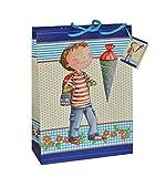 Unbekannt Geschenkbeutel / Geschenktasche Junge klein - für Schulanfang Schuleinführung Geschenktüte Tüte Beutel Tasche