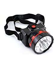 G .V. C 15 Watt Powerful Ultra Bright Head Torch Rechargeable Led Light Lamp for Home Industrial Work, Multicolour