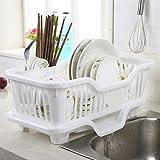 #10: Getko Kitchen Sink Dish Plate Drainer Drying Rack Wash Organizer Tray Holder Basket