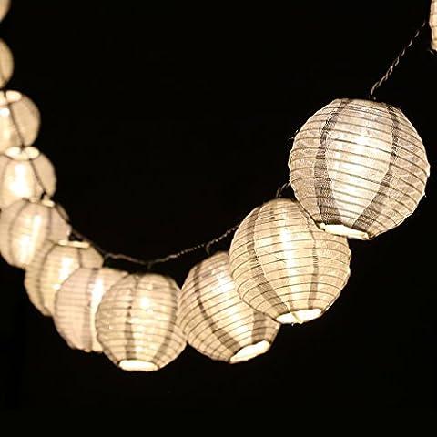 LED Solar Lampion Lichterkette 20er PartylichterketteWeihnachtslichterketten Weihnachtsbeleuchtung Deko für Innen