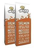 WOOOF Lachs 30kg kaltgepresstes Hundefutter mit Lachs, natürliche Zutaten, hoher Fischanteil, leicht verdaulich, ohne Weizengluten, Trockenfutter