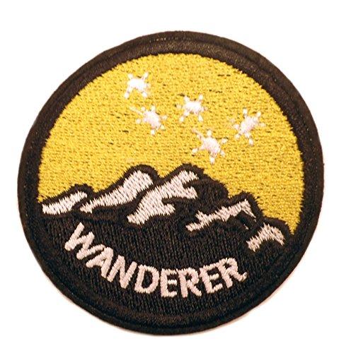 WANDERER Patch–6,3cm Zoll–Outdoor Thema Logo Parks Serie bestickt Eisen/Nähen auf Badge DIY Applikationen von Athena ()