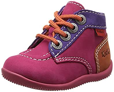 Kickers Bonbon, Chaussures Bébé marche bébé fille, Rose (Fuchsia Violet Orange), 18 EU