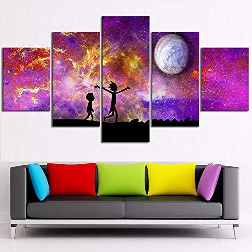 mmwin Drucke Bilder Home Wandkunst Modulare Poster 5 Panel Charakter Landschaft Auf Leinwand Wohnzimmer Dekor d