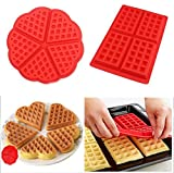 SFGHOUSE 2-Pack Silikon Waffeln Biskuit Form Baking Form Kuchen Schokolade Pan Muffin Formen Dosen