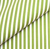 0,5m Streifen-Stoff 5mm hellgrün/ weiß