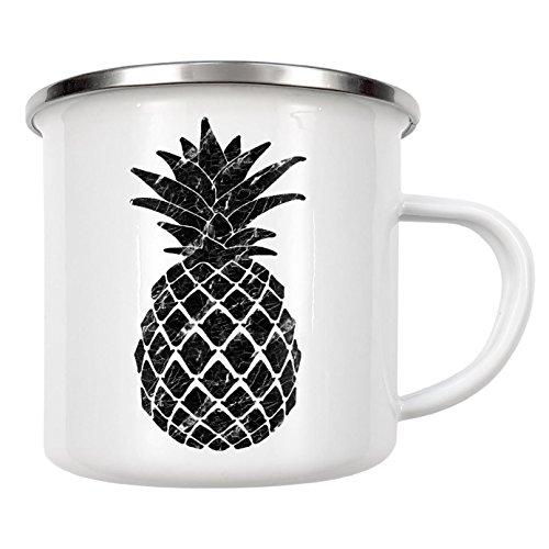 artboxONE Emaille Tasse 'Marble Pineapple' von Orara Studio - Emaille Becher Abstrakt