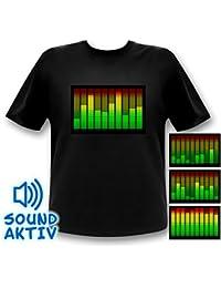 Sound Activated 10 Channel LED Equalizer T-shirt Light up Shirt