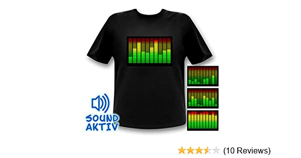 Costumes & Accessories Hot Sale Sound Activated Led Cotton T Shirt Light Up And Down Flashing Equalizer El T-shirt Men For Rock Disco Party Dj Top Tee Outstanding Features
