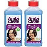 AmbiClean® Milchschaum-Reiniger für Kaffeevollautomat und Kaffeemaschine - Flüssig-Reiniger mit Milchaufschäumer oder Sahnespender - 2x250ml