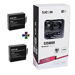 SJCAM SJ5000X Elite 4K 24 fps Sony IMX078 Waterproof WiFi Action Helmet Camera 2 Batteries Black
