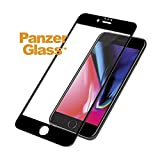 PanzerGlass Tempered Glass for Apple iPhone 6,6s,7,8 Edge to Edge Black Frame with Easy Installation Kit