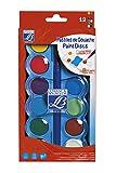 Lefranc Bourgeois - Pastilles de gouache pour enfants - Boîte de 12 pastilles 30mm + 1 pinceau