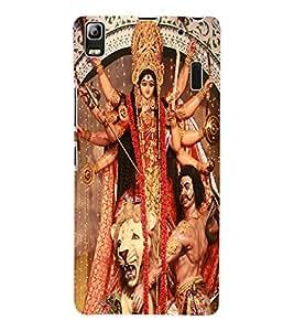 Fuson 3D Printed Lord Durga Designer Back Case Cover for Lenovo A7000 - D507