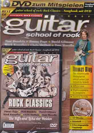 Gilmour Tom (Guitar School Of Rock Band 1 - 2016 Mit DVD Jimi Hendrix - Jimmy Page - David Gilmour - Mark Knopfler - Christ Shiflett - Tom Morello Thomas Blug)