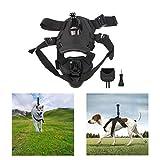 LVPY Verstellbares Hundegeschirr Brustgurt mit Adapter Halterung Zubehör für DJI OSMO Pocket Camera Gopro, Schwarz