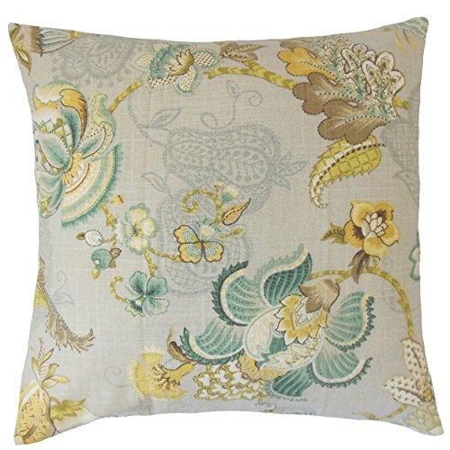 Das Kissen Kollektion Platinum Olive Lieve Blumen Bettwäsche Kissenbezug, Standard/50,8x 66cm (Sham Stoff)