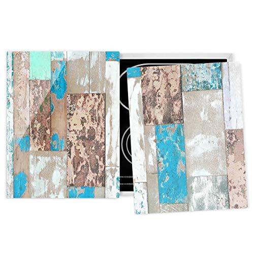 Bilderwelten Herdabdeckplatte Glas universal Infrarot-Kochplatten Maritime Planks 52 x 80 cm