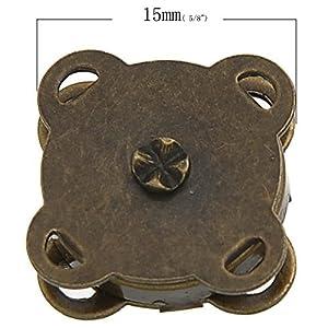 Little Freckle Bronzefarbener Magnetverschluss, zum einnähen, 15 mm, ideal zum Nähen, Basteln, für Kleidung, Tasche, Sammelalben und mehr, 10 Sets