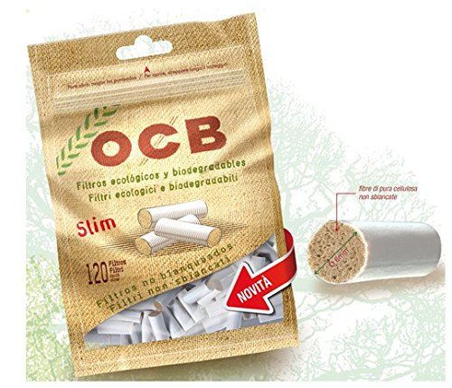 1200 FILTRI OCB SLIM BIO 6 mm IN BAG 1 BOX 10 BUSTINE DA 120 FILTRI