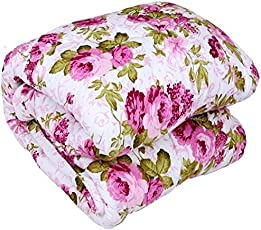 GKMSA Floral Print Cotton Double Bed dohar - Multicolor