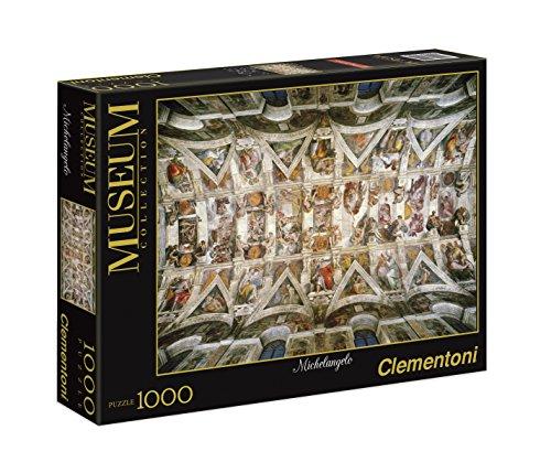 Clementoni 39225.4 - Puzzle Michelangelo-Gewölbe-Ansicht der Sixtinischen Kapelle, 1000 teilig