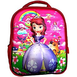 Worldcraft 3D Princess 13 inch Red Waterproof Children's Backpack (Pre School)
