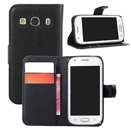 Guran Custodia in Pelle per Samsung Galaxy Ace Style LTE G357 Smartphone di Funzione di in Piedi e Slot per Contanti Carte Caso