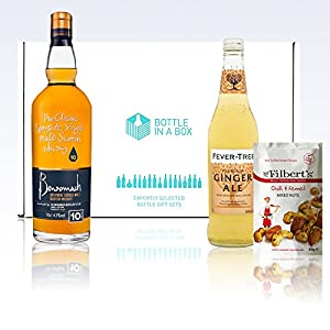 Benromach 10-year-old 70cl Malt Whisky + Fever-Tree Ginger Ale + Mr. Filbert's Chilli & Fennel Nuts Gift Box by Benromach