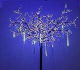 ZEARO 30cm 8 Tubes 144 LED Lumineux Pluie de Météore Guirlandes Lumineuses Extérieur pour Mariage Fête Noël Soirée