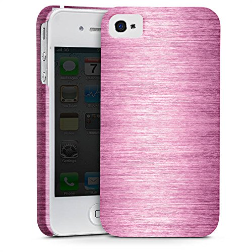 Apple iPhone X Silikon Hülle Case Schutzhülle Metal Look - Pink Metall Rosa Pink Premium Case glänzend
