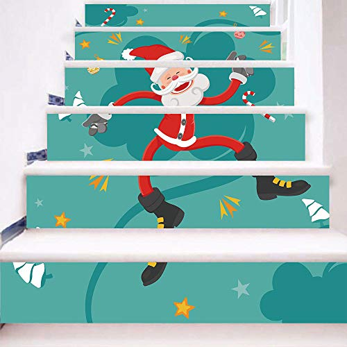 eber 13 Stück Weihnachten Verkleiden Sich 3D Josephs Santa DIY Selbstklebende wasserdichte Wandtattoo 18 * 100cm ()