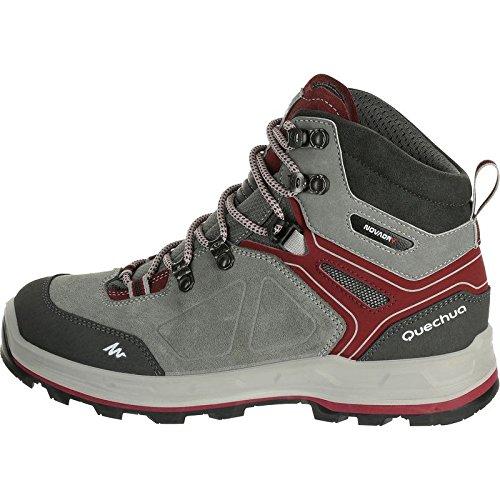 e8cd1ae0c QUECHUA FORCLAZ 500 HIGH WOMEN S WATERPROOF WALKING BOOTS - GREY ...