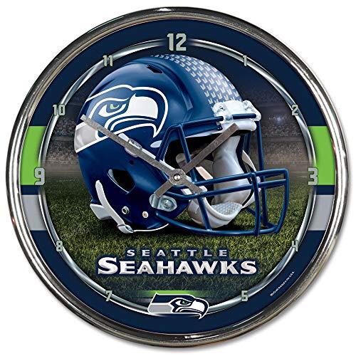 Wincraft NFL Chrome Uhr, 30,5x 30,5cm, Seattle Seahawks, Einheitsgröße