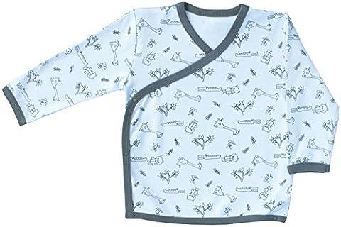 Coton Bio Bébé Kimono Bodysuit Certifié GOTS Vêtements (Gris, 0-3m)