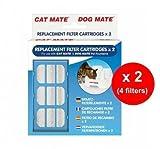 Cat Mate Dog Mate - Cartouches Filtres de Rechange pour Fontaine à Eau Chien Chat (Lot de 2 x 2)