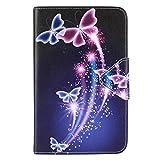 DETUOSI Samsung Galaxy Tab 3 Lite 7.0 Hülle Case - Ultra Slim Leder Tasche Hülle Etui Schutzhülle für Samsung Galaxy Tab 3 7.0 Lite (SM-T110N / SM-T113N) Tablet Case Cover Holder mit Ständerfunktion
