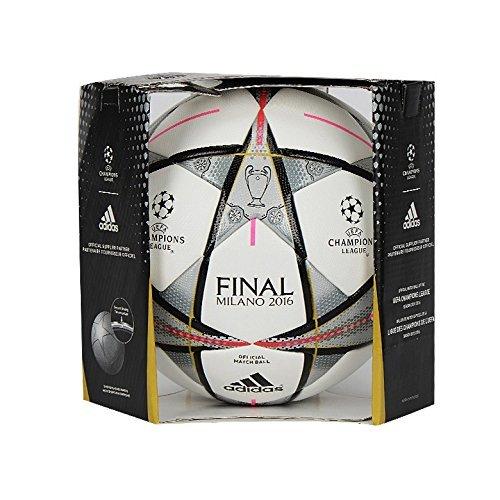 adidas Fußball Finale Milano OMB 16 Offizieller AC5487, weiß (White/Black/Silver Met), Gr. 5 (Training Shirt Milan)