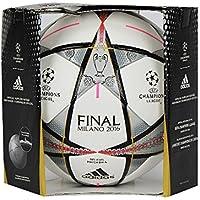 adidas - Pallone da Calcio; Finale Milano Ufficiale; Bianco/Nero/Argento metalllizzato, Misura: 5, AC5487