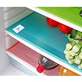 Kuber Industries PVC Fridge Multi Purpose Mats Set Of 6 Pcs (Multi Color)