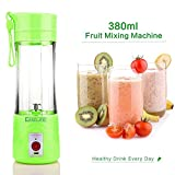 #8: Easelife Usb Peronal Portable Blender Bottle Juicer, Rechargeable Juice Mixer (380Ml)