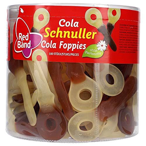 Red Band - Cola Schnuller - Weingummi - Fruchtgummi - Dose mit 1,2 kg