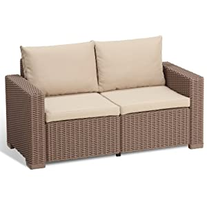 Allibert Lounge Sofa California 2-Sitzer, cappuccino/sand