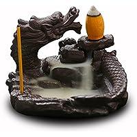 OTOFY Titular de Quemador de Incienso de cerámica Backflash Cono Ilustraciones Decoración del hogar Artesanía Adorno Estatuilla (Estilo2)