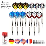 ARIZZ Darts 12 Pcs Soft Tip Darts 15 Grams Barrels with 24 Flights 24 Soft Tip Points for Electronic Dartboards