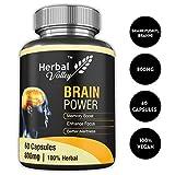 HerbalValley™ Brain Power 60 Capsules   7 Herbal Ingredients for better Memory  