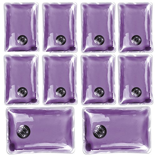 Confezione da 10 gel riutilizzabile dello scaldino della mano Heat Pack - confezioni Riscaldamento istantanea (rettangolo viola)